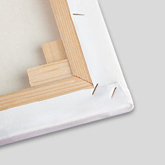 Photo canvas ecke without printing in detail